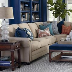 Merveilleux L Shaped Sectional  Love The Nailheads On This Sectional.