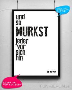 """MURKSEN"" | typo poster | size L von FUNI BERLIN auf DaWanda.com"