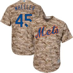 Zack Wheeler New York Mets Majestic Cool Base Player Jersey - Camo