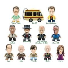 Breaking Bad 8pcs Classic TV Series Minifigure Collector/'s Set Walter White