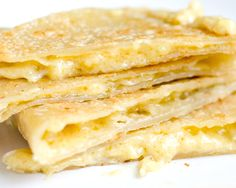 "Sweet Roots {Infusions of Herbal Living}: Vegan Quesadillas + Homemade Coconut Milk Cheddar Might actually try this ""cheese"".:S Not a huge fan of the vegan cheeses, but maybe making it myself it will be better. Vegan Cheese Recipes, Vegan Foods, Vegan Dishes, Dairy Free Recipes, Vegetarian Recipes, Gluten Free, Vegan Sauces, Vegan Meals, Samosas"