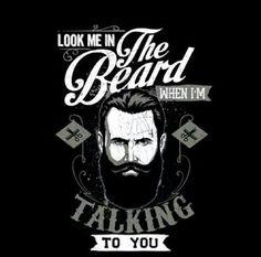 Mu hubs tells me to look at his eyes and not the beard! Lol #staringproblems Zippertravel.com Digital Edition