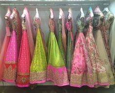 Yep, that's what a closet full of dreams looks like . At the @harpersbazaarbrideindia bridal master class ! Rack full of @anushreereddyofficial #lehenga #lightlehenga #indianbride #indianwedding