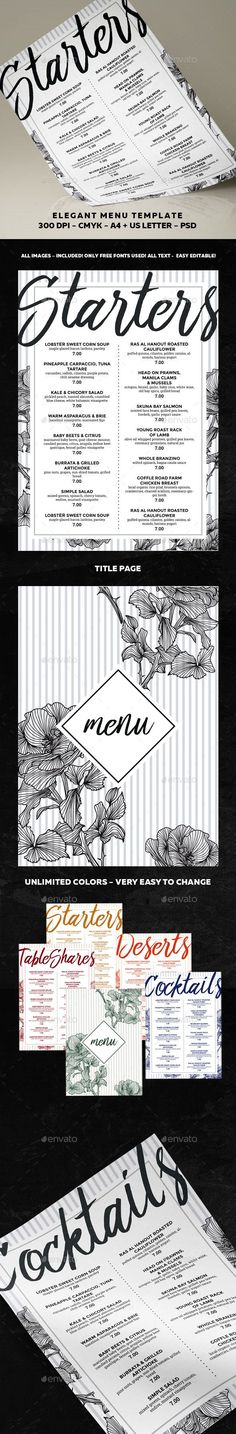 Menu PSD Template  • Only available here ➝ http://graphicriver.net/item/menu-template/16666727?ref=pxcr
