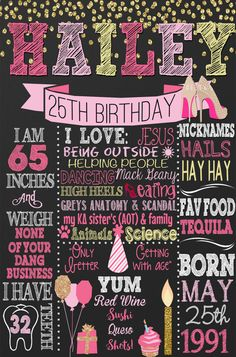 Adult birthday sign chalkboard style adult by CustomPrintablesNY 25th Birthday Parties, 35th Birthday, Birthday Cake Smash, Adult Birthday Party, Birthday Board, Funny Birthday, Birthday Sash, Birthday Nails, Birthday Crafts