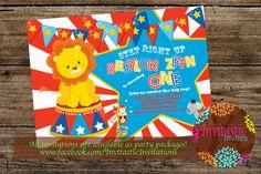 Circus/Carnival Birthday Party Invitation by InvitasticInvites