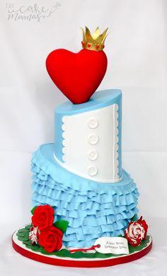 Alice in Wonderland birthday cake! Disney Themed Cakes, Disney Cakes, Beautiful Cakes, Amazing Cakes, Alice In Wonderland Cakes, Wonderland Party, Girly Cakes, Cakes Today, Cupcake Wars
