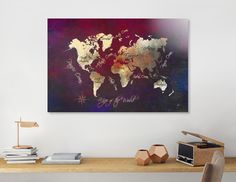 Discover «world map 43», Numbered Edition Aluminum Print by Justyna Jaszke - From $59 - Curioos