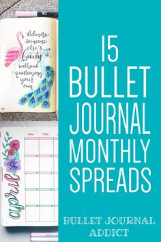 Creative Bullet Journal Monthly Theme Ideas - Bullet Journal Monthly Spreads - Monthly Layouts For Bullet Journals #bujo #bujolove #bulletjournal #monthlyspreads #spreads #bujospreads #bujomonthly