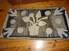Early and Best Hooked Rug Very similar to Seven Gates Popular Hooked Rug. ~♥~