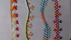 Hand embroidery stitches tutorial. Easy hand embroidery stitch designs.