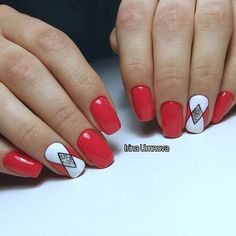 Ideas For Fails Design Unique Bright Red Nail Art, Fall Nail Art, Nail Art Diy, Red Nails, Love Nails, Pretty Nails, Acrylic Nail Designs, Nail Art Designs, Nail Growth Tips