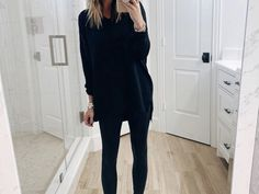 Five Ways To Style Faux Leather Leggings - The Sister Studio Cute Outfits With Leggings, Black Leggings Outfit, Boots And Leggings, Spanx Faux Leather Leggings, How To Wear Leggings, Sweaters And Leggings, Tops For Leggings, Leggings Fashion, Legging Outfits