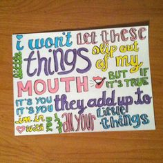 Little Things lyric drawing ($5) ❤ liked on Polyvore