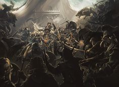 Battle of the Five Armies -  Adam Schumpert For Fantasy Flight Games, Lord of the Rings - Trading card game