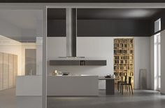 Light kitchen project, design by Modulnova., made in Italy.