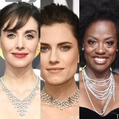 #DiamondNecklaces were out in force on the #BlackCarpet at the #GoldenGlobes, after an absence of some years. Perhaps it's because they look sensational with dress-up black.  #FortunoffJewelry has great collection, across all price ranges, to help you get the look. Click link here.