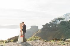 Photography : Anna Roussos Read More on SMP: http://www.stylemepretty.com/destination-weddings/2015/07/06/breathtakingly-beautiful-romantic-santorini-elopement/
