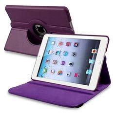 Insten 360-degree Swivel Leather Case For Apple iPad Mini 2 2nd with Retina Display / 3 3rd / 1 1st Gen, Purple Violet 6.50 walmart.com