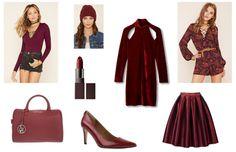 Trendfarbe Bordeaux Rot Egal ob Kleidung, Schuhe oder Taschen - #Bordeaux oder #Weinrot ist ein edler und perfekter Begleiter z.B. für Grau und Schwarz. Auf #stylishcircle findest du den #Look