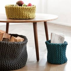 20 Knitted Elements of Decor and Furniture Pieces   Shelterness