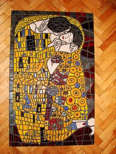 The Kiss ~ interpretation in Mosaic ~ by Barbara Lewandowska ~ Basia L's photostream on Flickr