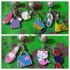Hello kitty, cupcake, handbag, girl stuff charms ♡♡♡