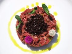 Organic Grass-fed Bison Tartare with Shiraz Caviar