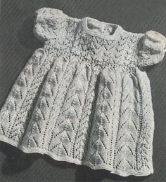 Spider-Man The Game - Intoxicating Baby Clothes Patterns, Baby Knitting Patterns, Baby Patterns, Vintage Knitting, Lace Knitting, Knit Crochet, Knit Lace, Vintage Baby Dresses, Knit Baby Dress