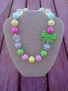 Chunky Necklace on Etsy, $16.00. This is from my sister's new Etsy shop. Check out her adorable bows and jewelry for babies and girls!