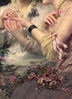 Traveling through history of Art.'A Thorn Amidst Roses', detail, by James Sant, Renaissance Kunst, Renaissance Paintings, Aesthetic Painting, Aesthetic Art, Old Paintings, French Paintings, Victorian Art, Classical Art, Old Art