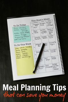 Meal Planning Tips to Save You Money - Good Cheap Eats Food costs are one of your most flexible expenses. These meal planning tips can help you save money, eat healthfully, and enjoy great meals. Planning Menu, Family Meal Planning, Planning Budget, Meal Planning Chart, Monthly Meal Planning, The Plan, How To Plan, Meal Prep Plans, Meal Prep Menu