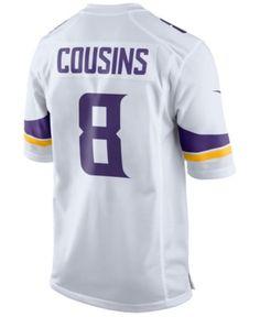 d229070b7 Nike Men Kirk Cousins Minnesota Vikings Game Jersey