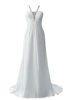 "Brides.com: Wedding Dresses for Petite Figures. Style 202, ""Jasmine"" soft shimmer satin wedding dress with micro-ruched bodice and bejeweled neckline, Disney Fairytale Weddings by Alfred Angelo  Try on this dress in our Virtual Dressing Room."