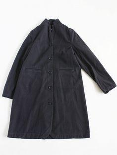 brushing cotton long jacket