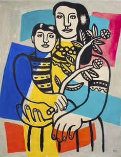 Fernand Léger (1881–1955), Mother and Child (Mère et Enfant) c. 1949. Gouache, 58.5 x 50 cm.