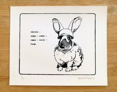 CARROT Limited edition handpulled screen by ChurnyMornPackyMack, $25.00