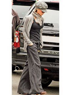 """Cute for a """"hide me"""" grunge look. Perfect for a lazy Sunday to walk the dog."""