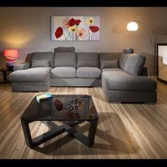 Massive Modern High Quality Sofa/Settee/chaise Corner Group Grey 3 R/H