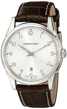 #hamiltonwatch Hamilton Men's H38511553 Jazzmaster Thinline Silver Dial Watch Check https://www.carrywatches.com
