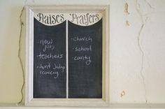 Praises and Prayers Chalkboard - scripture board - sunday school - homeschool