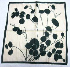 Vintage Italian Scarf Green Modern Floral by sweetie2sweetie, $12.99