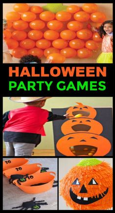 TONS of Halloween party games for kids! #halloweenpartyideas #halloweenpartygames #halloweengamesforkids #growingajeweledrose #activitiesforkids Halloween Games For Kids, Kids Party Games, Halloween Food For Party, Diy Halloween Decorations, Halloween Recipe, Haloween Games, Halloween College, Preschool Halloween, Halloween Office