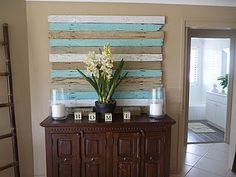 entry way ideas.. I like the idea of painting pallets