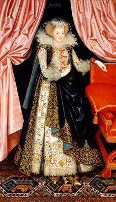 William Larkin, Richard Sackville, 3rd Earl of Dorset, 1613. © English Heritage. William Larkin, Diana Cecil, c.1614–18. © English Heritage
