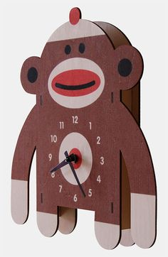 This clock has broad appeal for monkey-lovers, even if they aren't die-hard sock monkey folk.