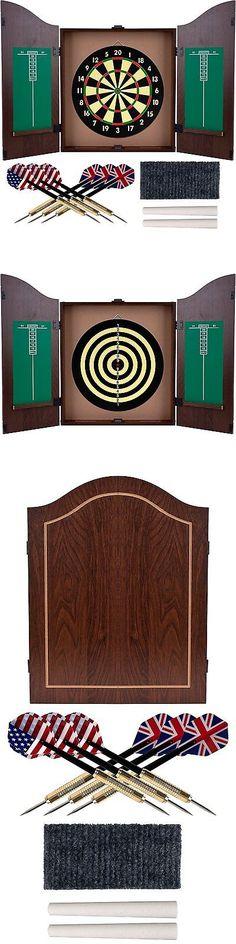 Dart Boards 72576: Trademark Gameroom Dartboard Cabinet Set With Realistic  Walnut Finish BUY IT NOW