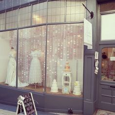 Valentines Window Display at The Bridal Emporium, Grand Arcade, Leeds, England. Wedding shop. Bridal Shop, Vintage Wedding, Bespoke, British Bridal Designer