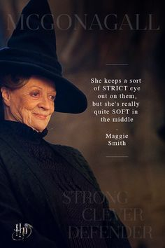 Maggie Smith on the quiet strength of Minerva McGonagall | Celebrate International Women's Day with quotes from the women of the wizarding world