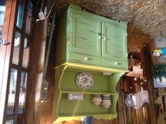 ~Bright Green Kitchen Hutch~ - Farm Fresh Vintage Finds